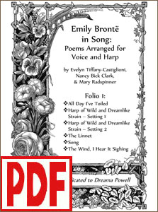 Emily Bronte in Song arranged for voice and harp <span class='red'>PDF Download</span>