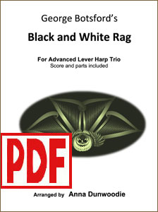 Black and White Rag by George Botsford arranged for harp trio by Anna Dunwoodie <span class='red'>PDF Download</span>