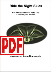 Ride the Night Skies - for harp trio by Anna Dunwoodie PDF Download