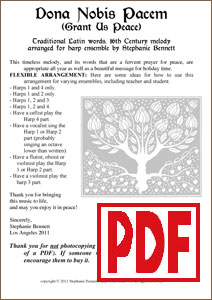 Dona Nobis Pacem for ensemble by Stephanie Bennett PDFs