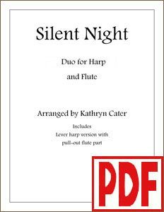 Silent Night for harp and flute by Kathryn Cater PDF Downloads