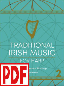 Traditional Irish Music for Harps with 34 strings by Katy Bustard <span class='red'> PDF Download </span>