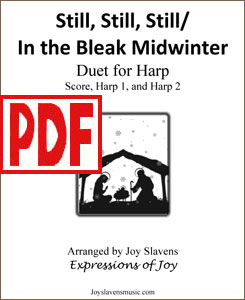 Still, Still, Still / In the Bleak Midwinter harp duet by Joy Slavens <span class='red'> PDF Download </span>