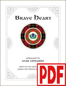 Brave Heart for harp solo or harp with other instruments by Star Edwards <span class='red'> PDF Downloads </span>