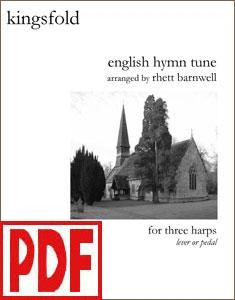 Kingsfold for 3 Harps by Rhett Barnwell  PDF Download