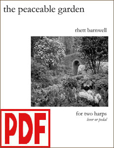 The Peaceable Garden for 2 Harps by Rhett Barnwell  <span class='red'>PDF Download</span>