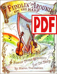 Fiddlin' Around on the Harp for harp solo, duo, or harp and melody instrument by Sharon Thormahlen <span class='red'>PDF Download</span>