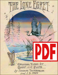 The Lone Egret for harp and flute by Sharon Thormahlen and J. B. Urey PDF Download