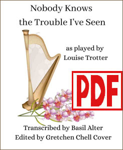 Nobody Knows the Trouble I've Seen for pedal harp by Louise Trotter <span class='red'>PDF Download</span>
