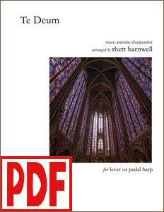 Te Deum arranged by Rhett Barnwell <span class='red'>PDF Download</span>