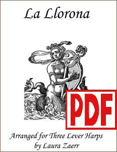 La Llorona by Laura Zaerr for harp ensemble PDF Downloads