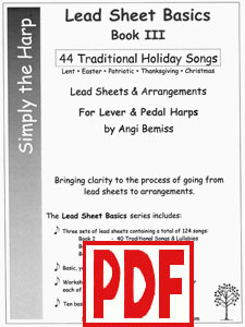 Lead Sheet Basics III: Traditional Holiday Songs by Angi Bemiss  PDF Downloads
