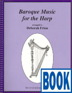 Baroque Music for the Harp <span class='blue'>Book</span> by Deborah Friou