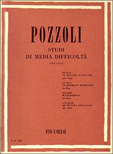 Studi di Media Difficolta <span class='blue'>book</span> for PEDAL harp by Pozzoli