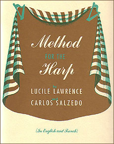 Method for the Harp by Lucile Lawrence and Carlos Salzedo <span class='blue'>Book</span> for pedal harp