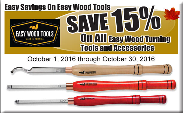 Easy Wood Tools 15% Off Sale