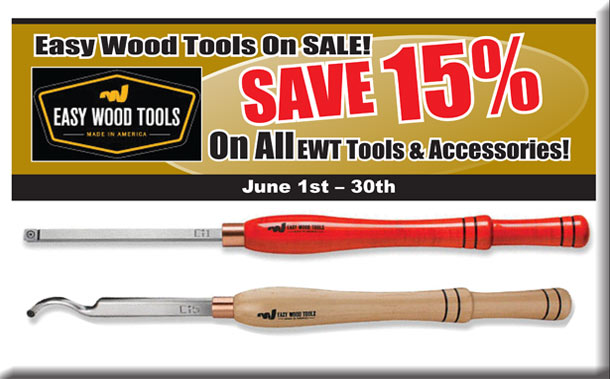 SAVE 15% On All Easy Wood Tools & Accessories!