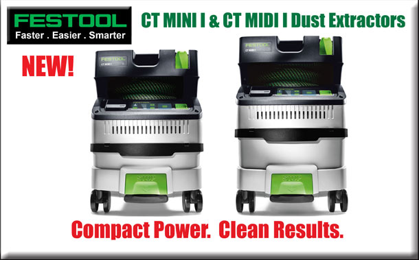 New! CT Mini I and CT Midi I Dust Extractors