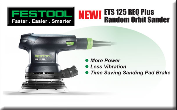 NEW!  ETS 125 REQ Plus Random Orbit Sander