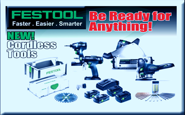 NEW! Festool Cordless Tools