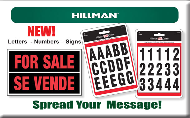 Hillman Letters, Numbers and Signs