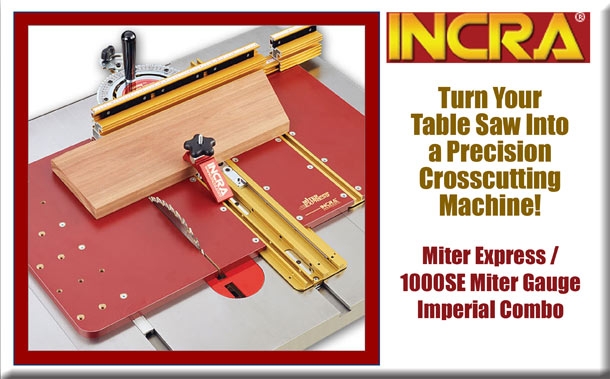 Incra Miter Express / 1000SE Miter Guage Imperial Combo