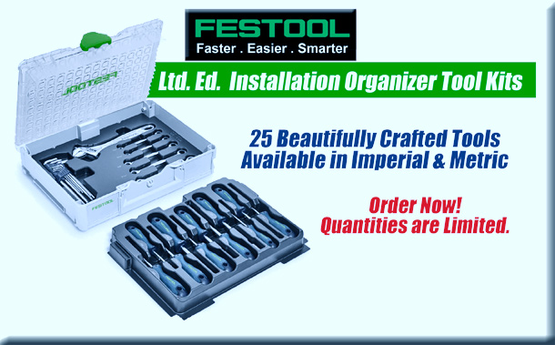 Festool Ltd. Ed. Installation Organizer Tool Kits