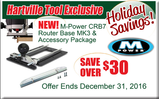 New M-Power CRB7 Router Base MK3 & Accessory Package