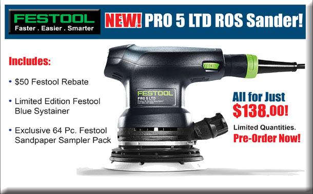 New Festool PRO 5 LTD ROS Sander