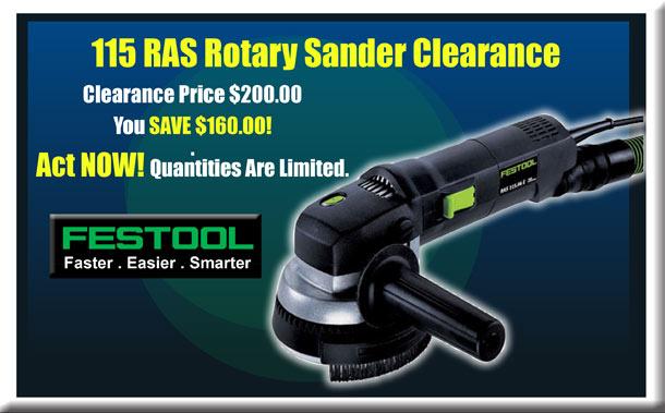 Festool 115 RAS Rotary Sander Clearance