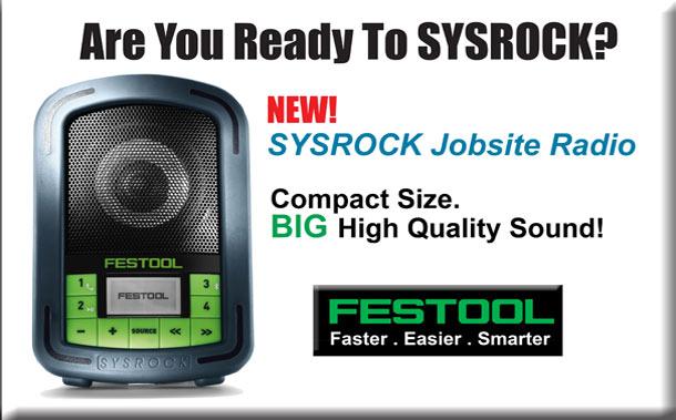 New Festool Sysrock Jobsite Radio