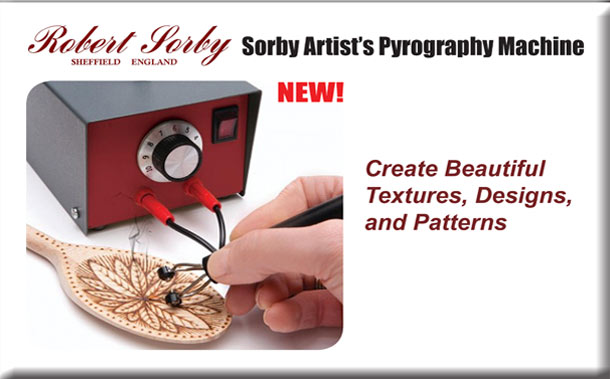 NEW! Sorby Artist's Pyrography Machine Create Beautiful Textures, Designs, and Patterns