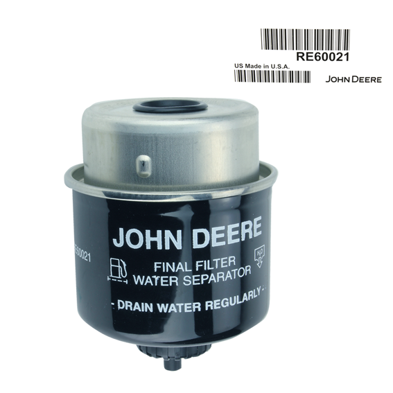 JOHN DEERE #RE60021 FUEL FILTER ELEMENT