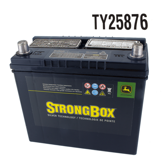 JOHN DEERE #TY25876 STRONGBOX DRY CHARGED 12V BATTERY