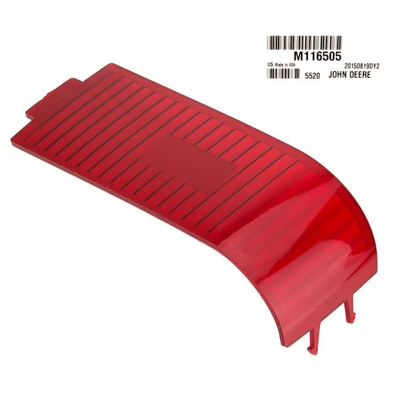 JOHN DEERE #M116505 LEFT HAND RED TAIL LIGHT LENS