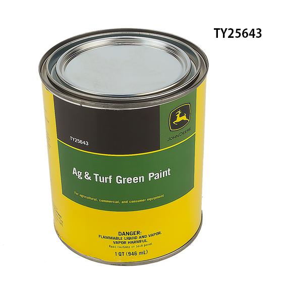John Deere #TY25643 AG/C & CE Turf Green Paint - Quart