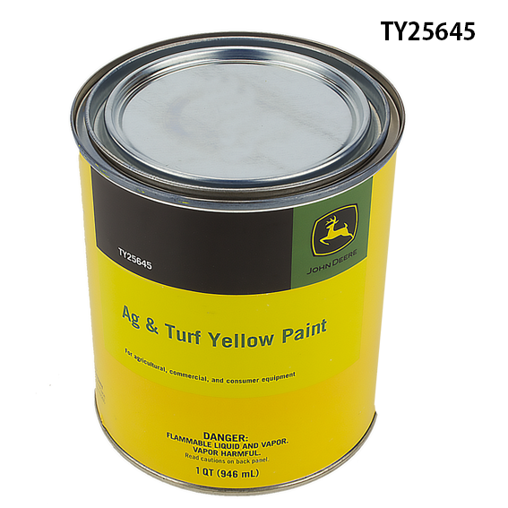 John Deere #TY25645 AG/C & CE Turf Yellow Paint - Quart