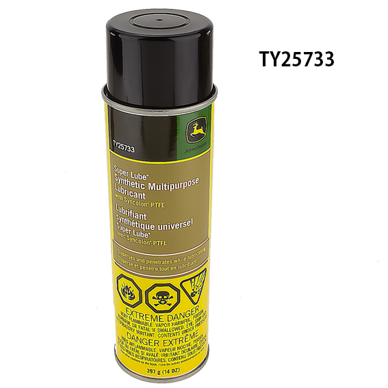 JOHN DEERE #TY25733 SUPER LUBE SYNTHETIC MULTI-PURPOSE LUBRICANT SPRAY - 14 OZ.