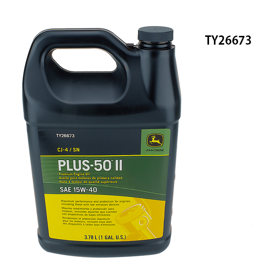 JOHN DEERE #TY26673 PLUS-50 II SAE 15W-40 PREMIUM ENGINE OIL - GALLON