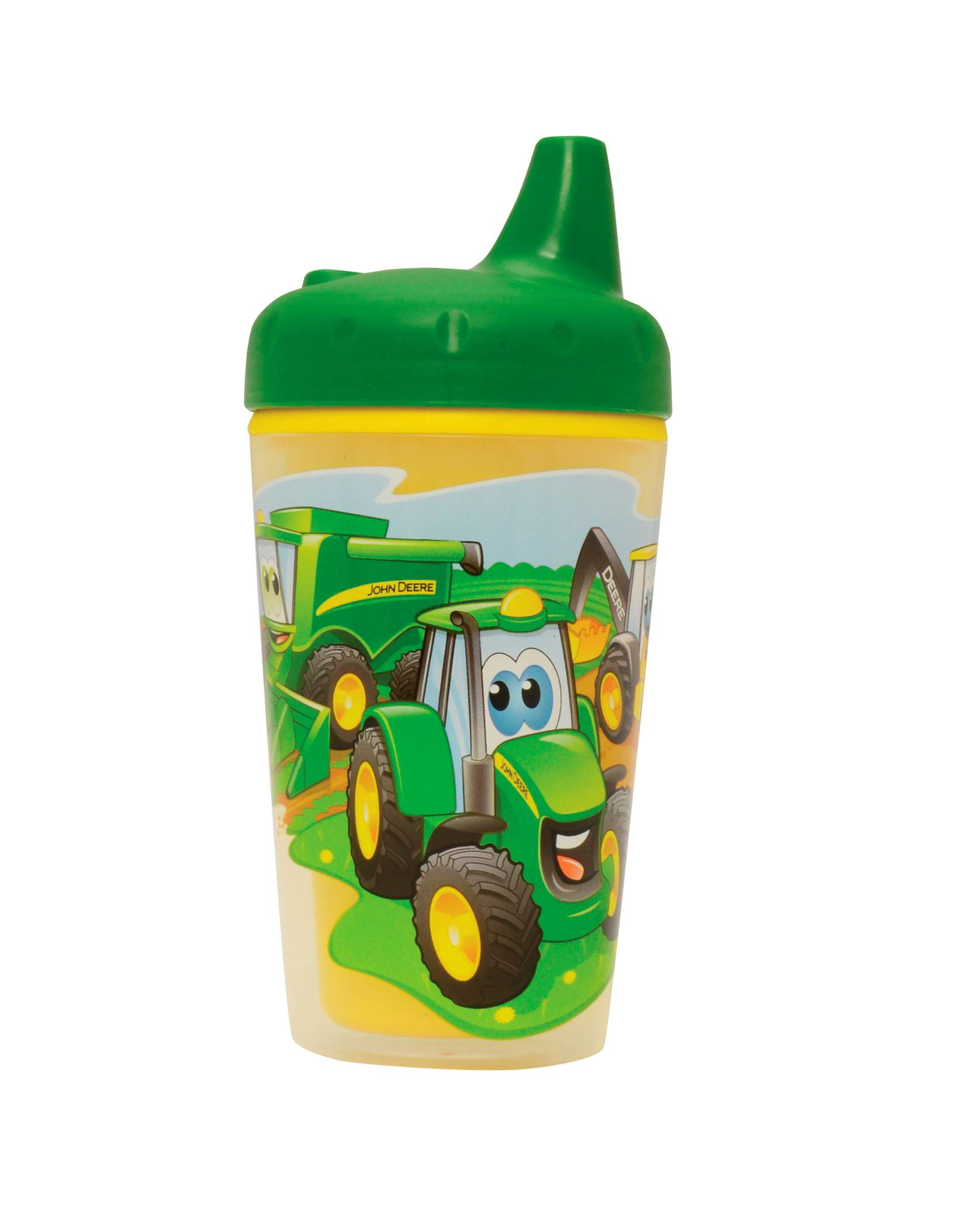 TOMY JOHN DEERE INSULATED SIPPY CUP WITH ONE PIECE LID - 9 OZ