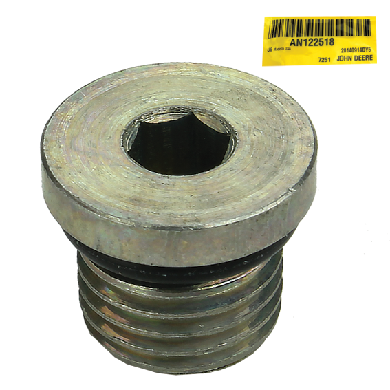 JOHN DEERE #AN122518 FITTING PLUG