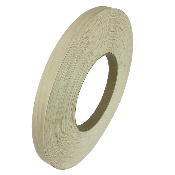 Sauers & Company 7/8 Inch x 250 Ft  Pre-Glued Edge Banding Roll - White Birch