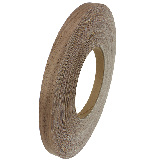 SAUERS & COMPANY 7/8 INCH X 250 FT  PRE-GLUED EDGE BANDING ROLL - WALNUT
