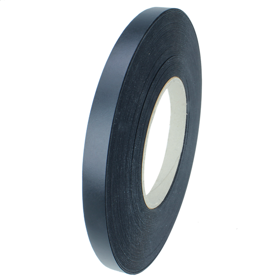 SAUERS & COMPANY 7/8 INCH X 250 FT  PRE-GLUED EDGE BANDING ROLL - BLACK MELAMINE