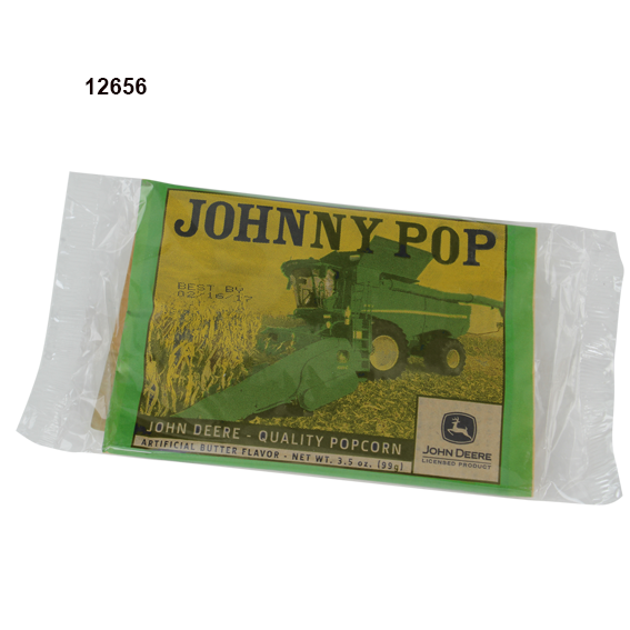 JOHN DEERE JOHNNY POP MICROWAVE POPCORN - 10 PK.