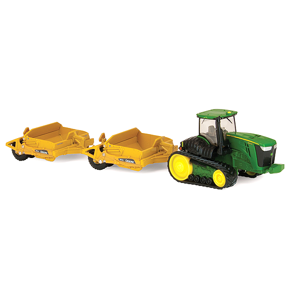ERTL JOHN DEERE 1:64 SCALE 9560RT TRACTOR WITH SCRAPERS