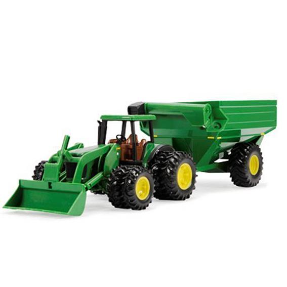 Ertl John Deere 4WD Loader Tractor With Grain Cart