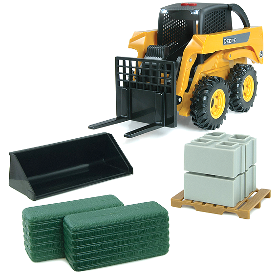 Ertl John Deere 1:16 Scale Skid Loader Play Set