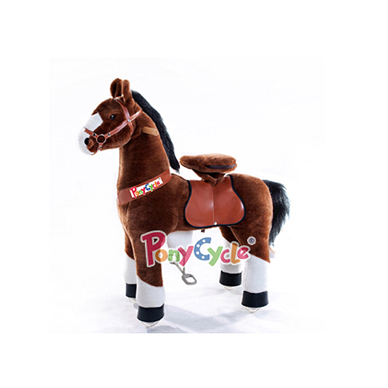 PonyCycle - Small Chocolate Brown With White Blaze & Socks