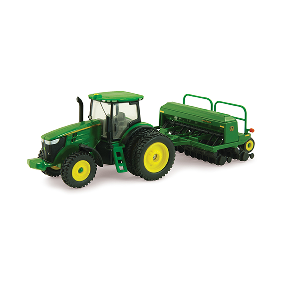 Ertl John Deere 1:64 Scale Model 7215R Tractor with 1590 Grain Drill